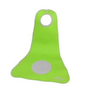 Kinderlätzchen grün mit grau