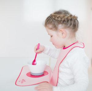 Kinderlätzchen rosa mit pink