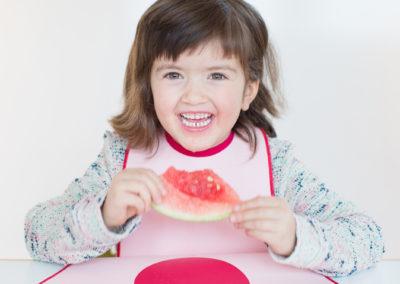 Lätzchen von LaLatz Farbe rosa mit pink